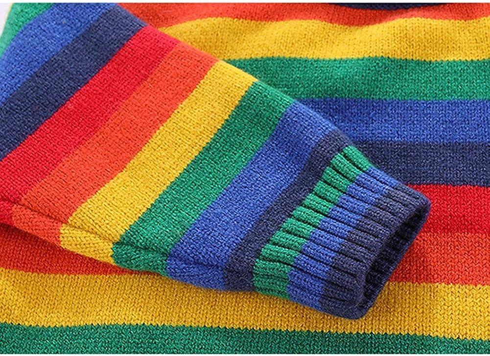 AMIYAN Baby M/ädchen Jungen Sweatshirt Neugeborene Kleinkind Herbst Winter Regenbogen Rundhals Strickpullover Pulli Tops Outwear 2-6 Jahre
