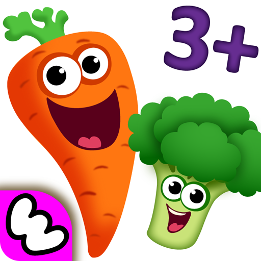 Funny Food 2 - Educational Games for Kids Toddlers in Learning Apps 4 Babies & Preschoolers! Kindergarten Game for Girls Boys 3 5 Years Old: Children Learn Smart Baby Shapes and Colors! Puzzle matching free develop fine motor skills, attention, logic ()