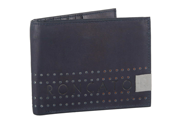 Cartera hombre RONCATO cuero portatarjetas de crédito y solapa - Colore Negro: Amazon.es: Ropa y accesorios