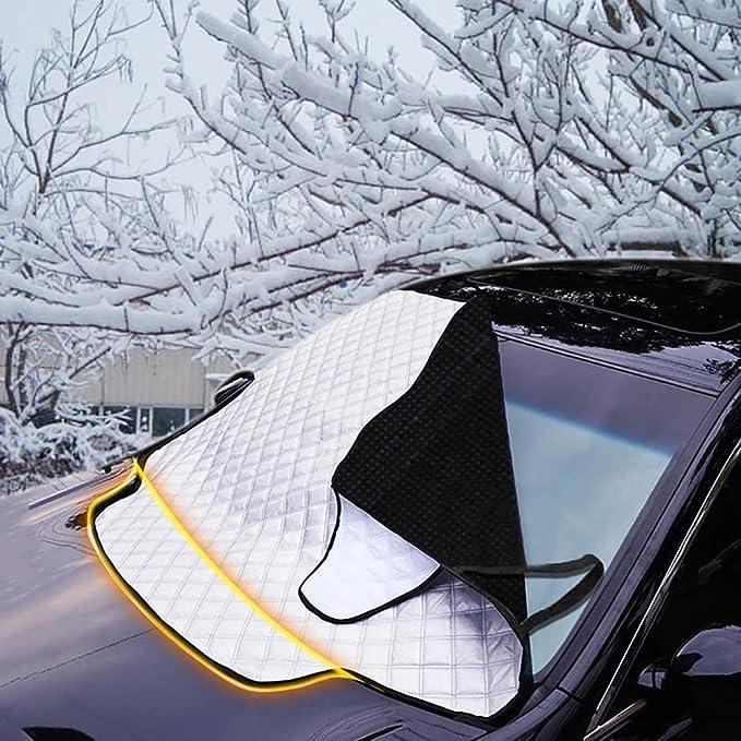 FREESOO Funda Protectora Coche para Parabrisas Cubierta de Parabrisas Ventana Delantera Lunas Aluminio Cubierta de Nieve Hielo Polvo Protector Parasol ...