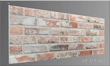 Steinoptik Wandverkleidung Für Wohnzimmer, Küche, Terrasse Oder  Schlafzimmer In Klinkeroptik Look. (ST