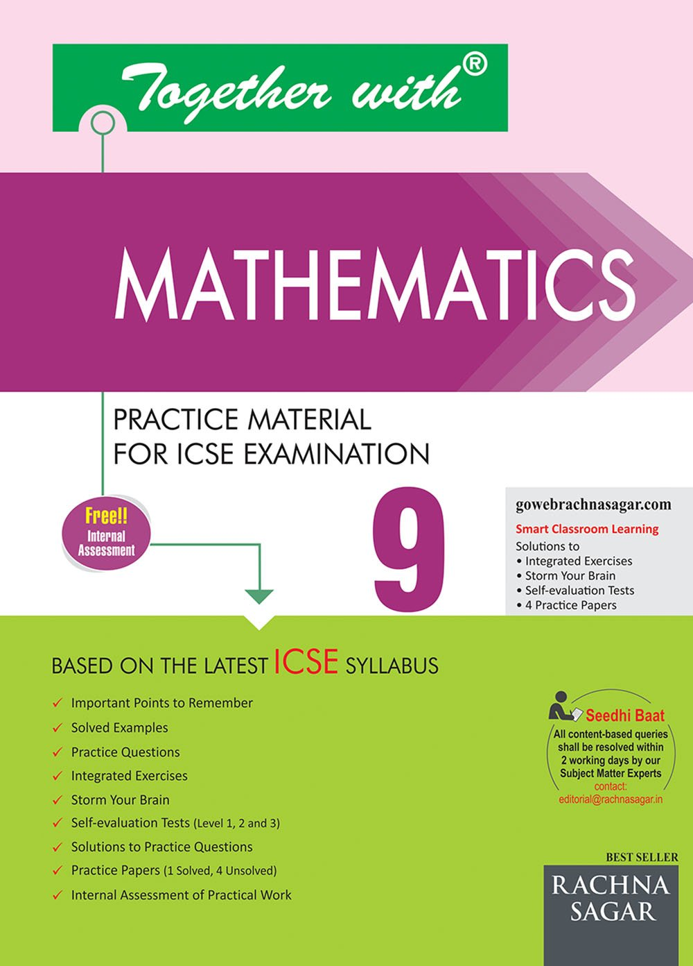Together With Mathematics ICSE - 9 (Old Edition): Amazon.in: Rachna Sagar:  Books