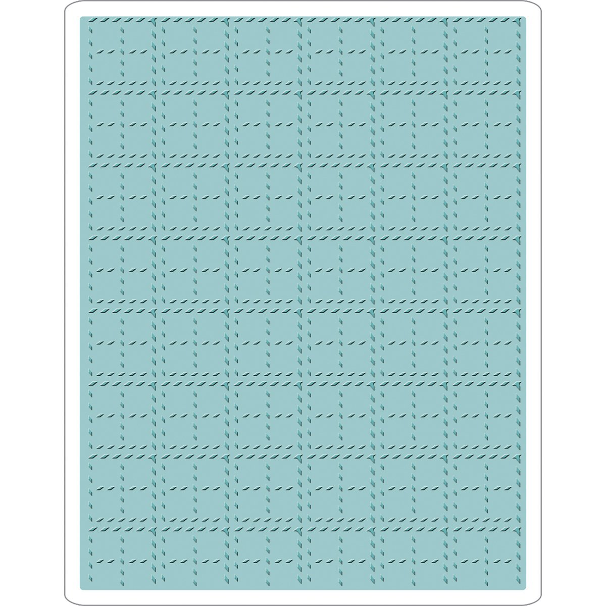 Sizzix Tim Holtz Alterations Collection Christmas Texture Fades Embossing Folder Stitched Plaid (8 Pack)