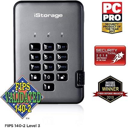 iStorage diskAshur PRO2 256-bit 8TB USB 3.1 FIPS Level 3 Certified ...