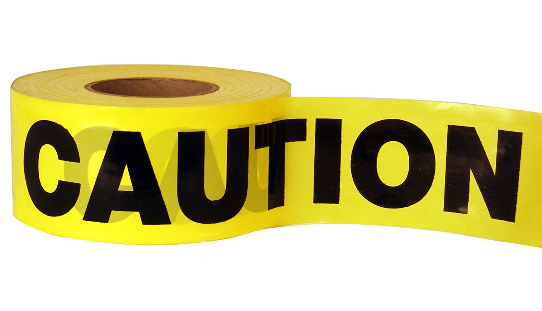 C H Hanson 19000 305m 1000ft Caution Economy Grade Tape - Yellow C.H.Hanson