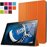 ERLI Lenovo Tab 2 X30F A10-30 Funda, Ultra delgado Smart Funda Carcasa con Stand Función y Auto-Sueño/Estela para Lenovo Tab 2 X30F A10-30 Android Tablet pulgadas (Naranja)