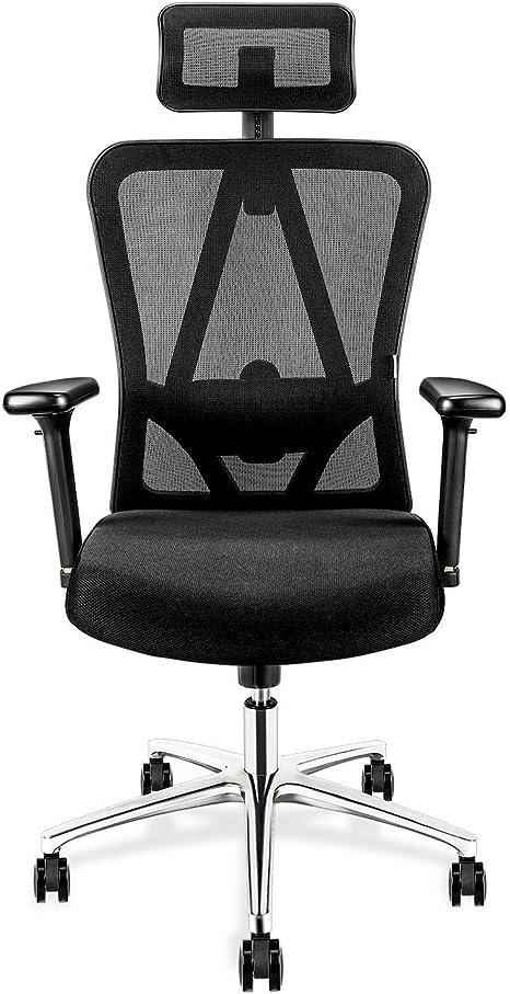 mi silla de oficina se baja al sentarme