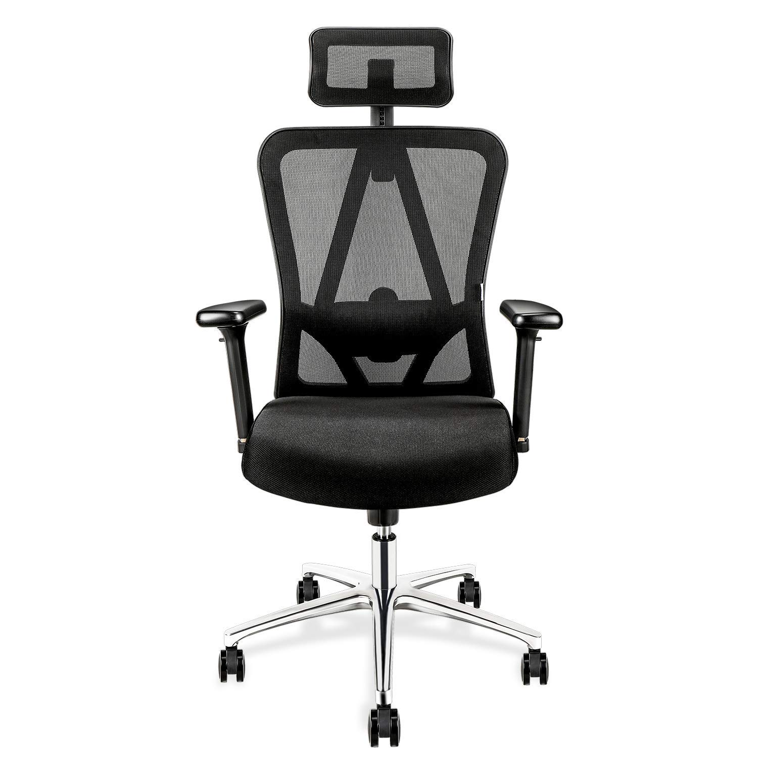 TOPVORK High Back Mesh Office Chair Ergonomic Chair, Desk Chair with Adjustable Headrest Armrest and Lumbar Support, Better Spine Protection for Sedentary People