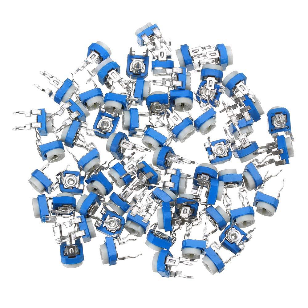 BouBou 65Pcs 100-1M 13 Valores Cada 5 Paquete De Resistencia Ajustable 065 Potenci/ómetro Ajustable