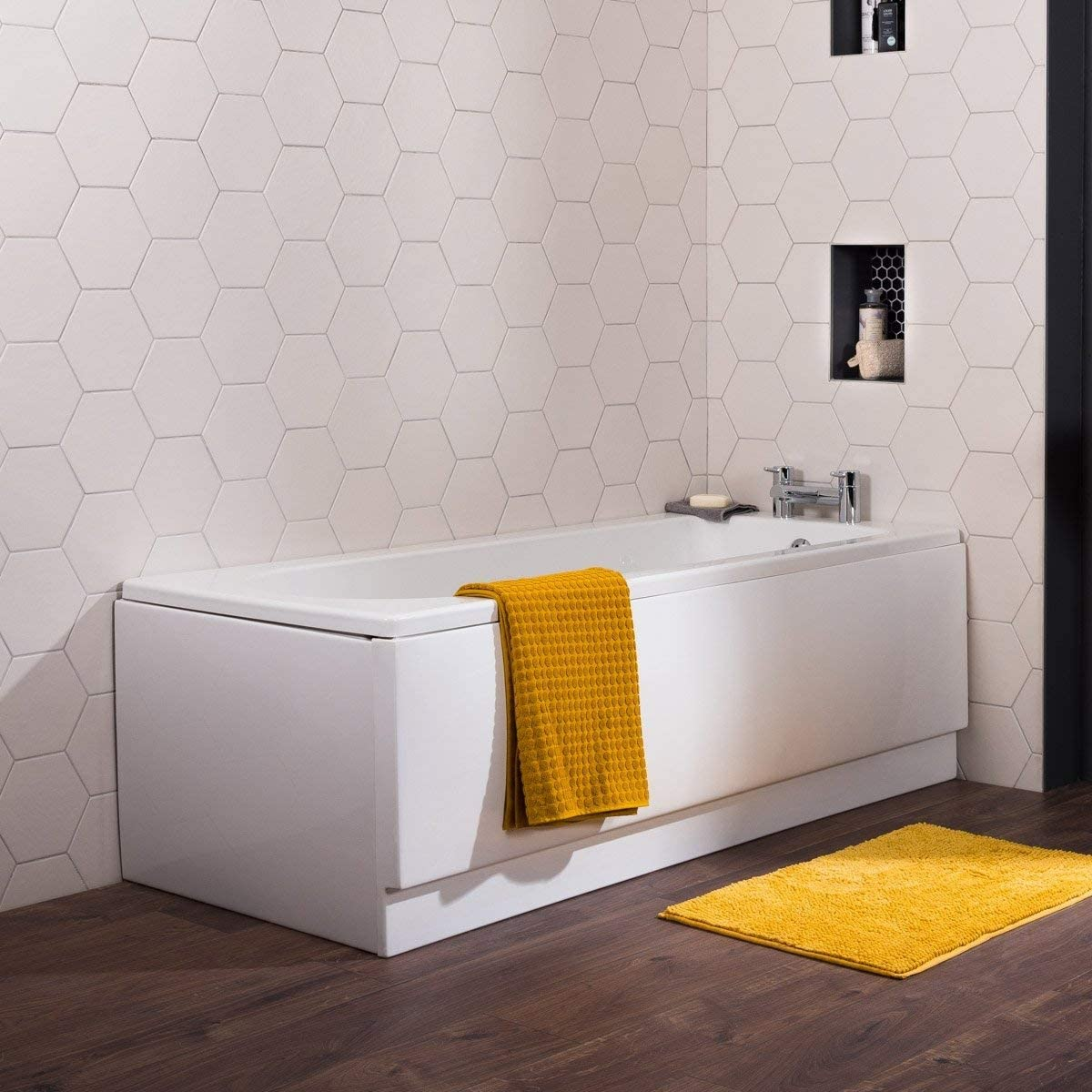 Nrg Modern Bathroom Suite With 1500mm Bath Wc Toilet And Wash Basin Sink