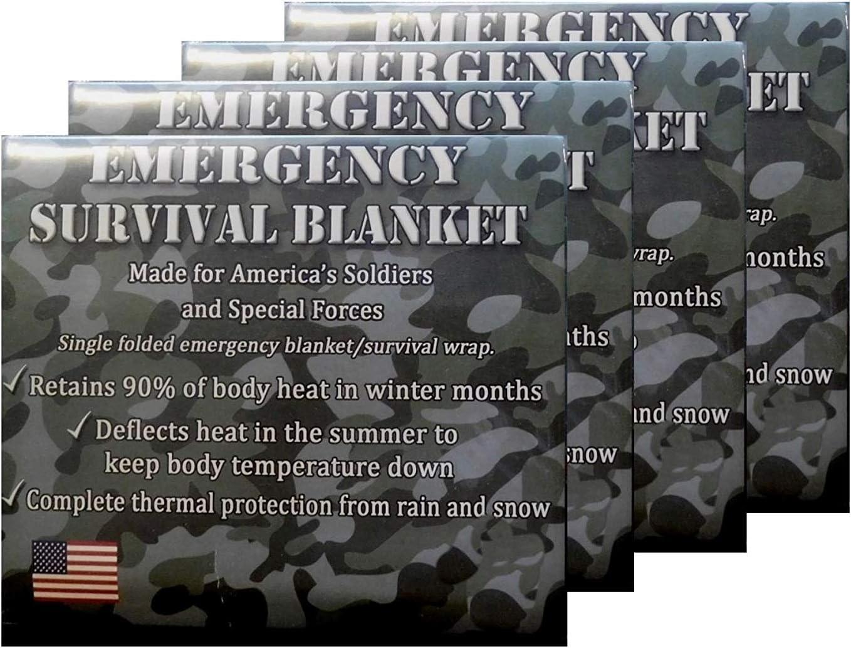 Mylar De Emergencia Mantas T/érmicas De Reflexi/ón T/érmica Manta De Los Primeros Auxilios De La Hoja De Supervivencia para Acampar Yendo De Excursi/ón O De Aventuras