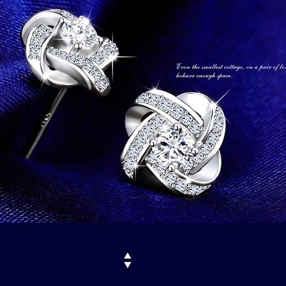 OldSch001 Simple Fashion Mircro Inlaid Zircon Earrings Stud