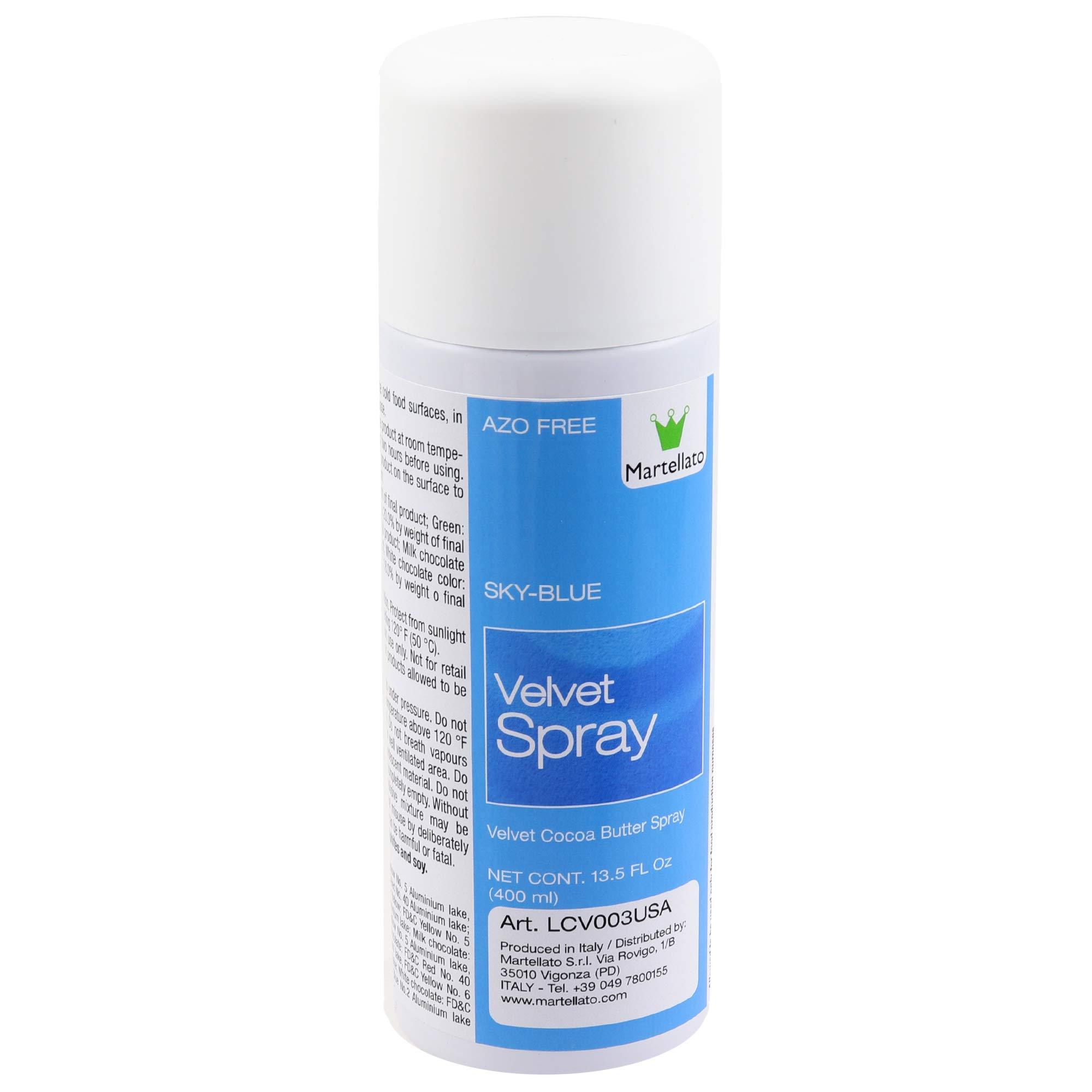 Martellato Sky Blue Velvet Spray 13.5 Ounce (400ml) by Martellato