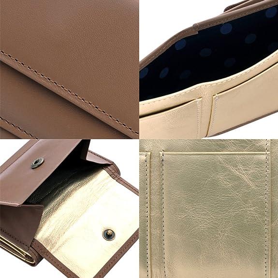 fa8350abfeb7 Amazon   極小財布 InRed別注モデル「カウハイドグレージュ」 BECKER 日本製 ミニ財布/三つ折り財布   BECKER(ベッカー)    バッグ・スーツケース