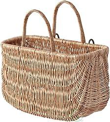 Vintiquewise(TM) Wicker Shopping Basket, Bike Basket, Honey