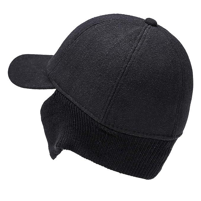 Jeremy Stone Brand Mens Winter Cap Ears Protection Baseball Cap Men Hat Gorras para Hombre Bone Trucker Caps Casquette Black at Amazon Womens Clothing ...