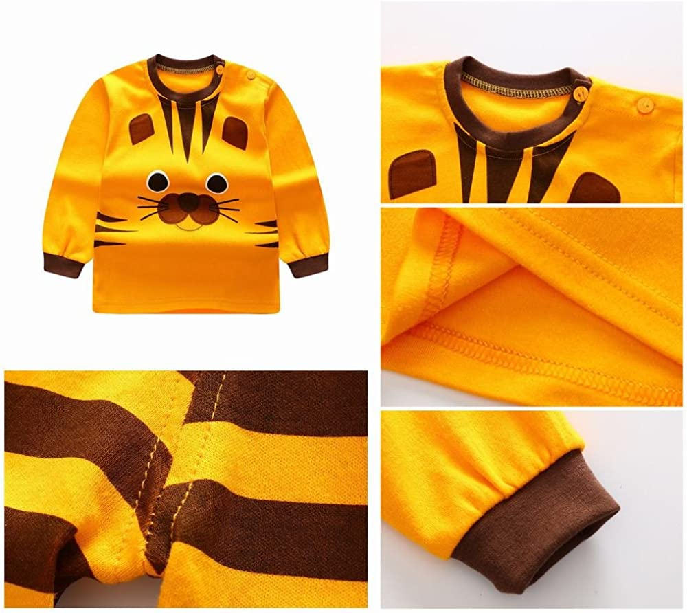 Unisex Baby Boys Girls 2-Piece Cotton Pajama Sleepwear Outfits Set
