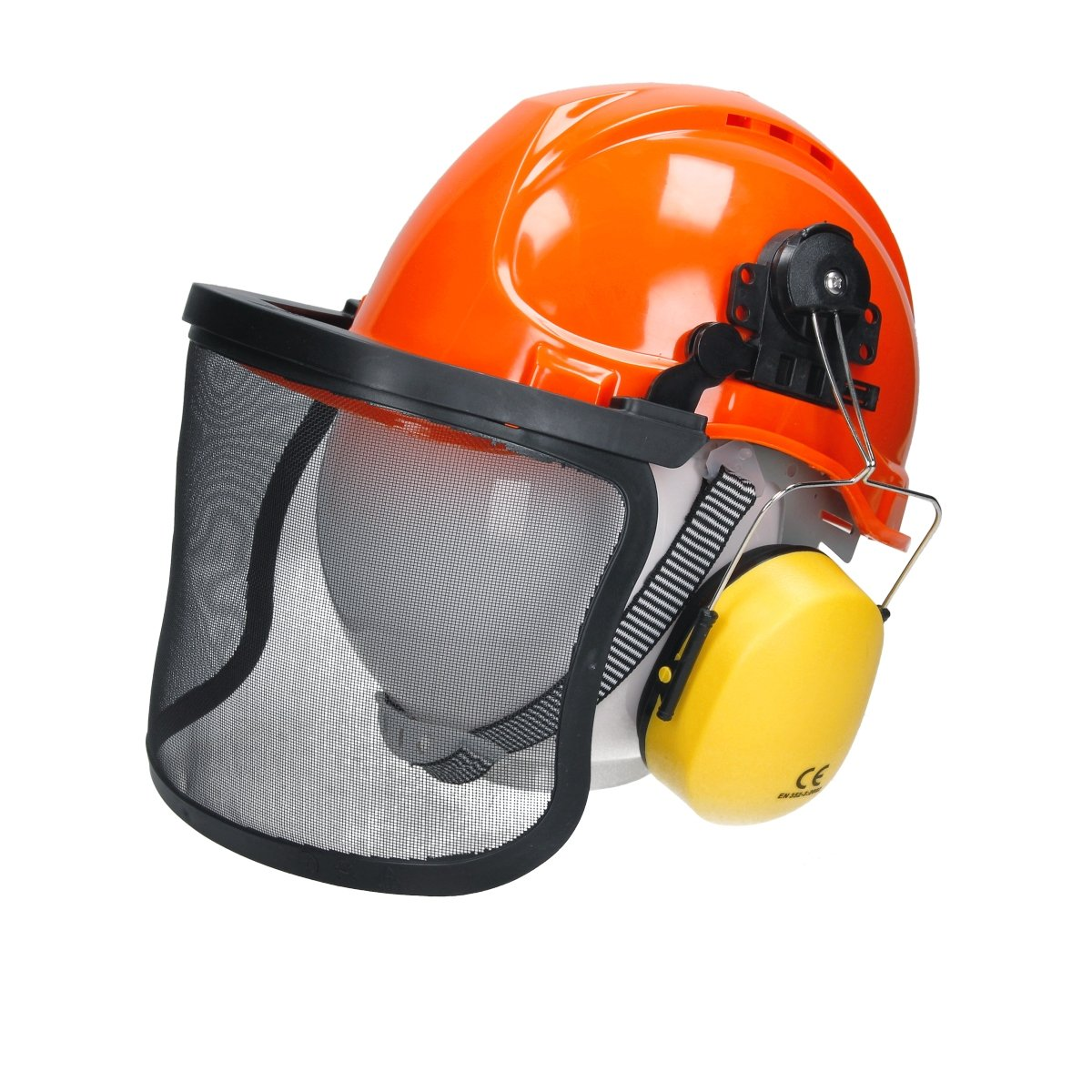 ECD-Germany Casque de sécurité Visière grillagée Casque Anti Bruit Protection faciale auditive ECD Germany