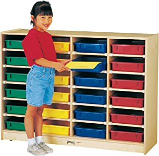 product image for Jonti-Craft 0625JC 24 Paper-Tray Mobile Storage with Colored Paper-Trays, Yellow