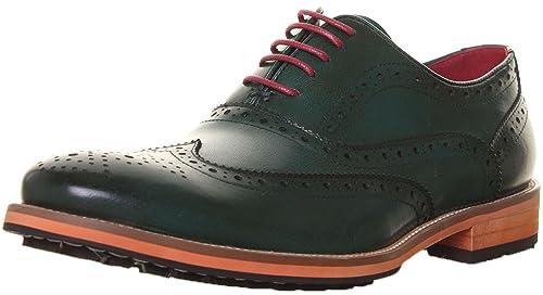 Justin Reece - Mocasines de cuero para hombre, color verde, talla 42: Amazon.es: Zapatos y complementos