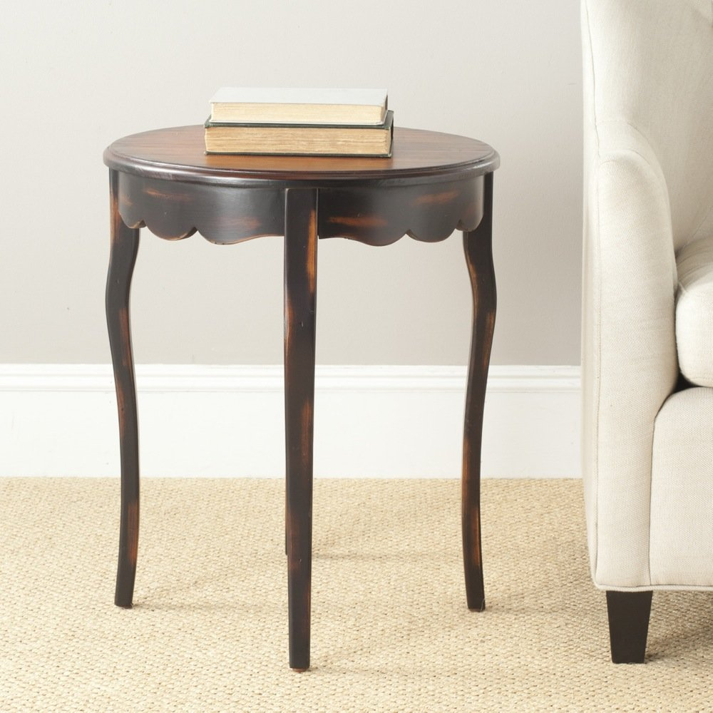 Safavieh American Homes Collection Devon Antiqued Brown Round Side Table