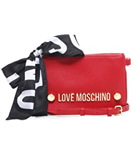 Moschino Love Moschino Femmes Echarpe logo cravate sac à bandoulière Rouge  Une Taille a47ff55c41cd