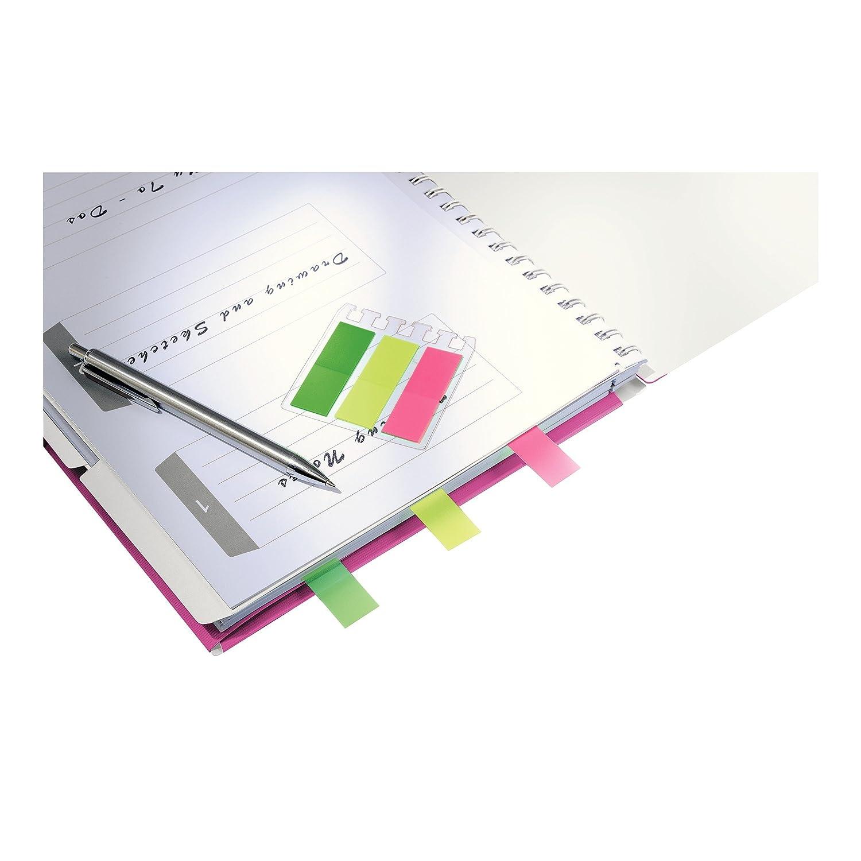 Leitz 46450023 - Cuaderno de anillas (A4, papel cuadriculado), color rosa metalizado: Amazon.es: Oficina y papelería