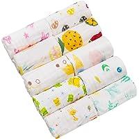 5-delige uniseks handdoek Facial baby katoen voile slabbetjes tekenfilm 30 * 30 cm kleur willekeurig 10 Teile