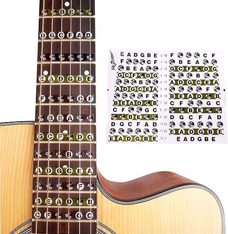 Pegatinas de notas para guitarra eléctrica acústica, diseño de ...