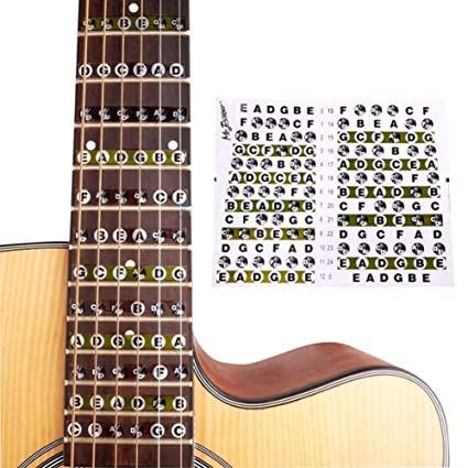 Musical Instruments 2pcs Guitar Fretboard Musical Scale Notes Map Labels Sticker Fingerboard Fret Decals For Acoustic Electric Guitar Pure White And Translucent Sports & Entertainment