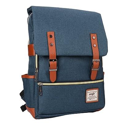 """15"""" Laptop Backpack, HENGREDA Lightweight Business School Bag Water Resistant for Hightschool College Student Women Men for HP Dell MacBook Laptop (Blue)"""