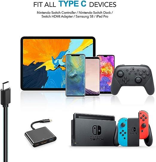 BERLS - Adaptador de Corriente y Cargador para Nintendo Switch (Compatible con Modo de TV de Tipo C 5 V-3 A / 15 V-2,6 A, para Consola/Base de Acoplamiento/Joy-con/mandos Nintendo Switch: Amazon.es: