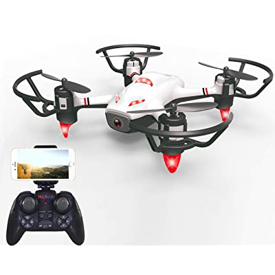Haktoys HAK913 FPV WiFi HD Live Streaming Camera RC Quadcopter Mini Drone w/Lights | Gesture Recognition, Optical Flow Positioning, Trajectory Plan, Take-Off & Return Key, 360°Flips, Headless Mode: Toys & Games