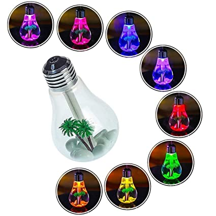 Rich N Royal Air Freshener Bulb Humidifier With LED Night Light For Car Home And Office (Multi Color)
