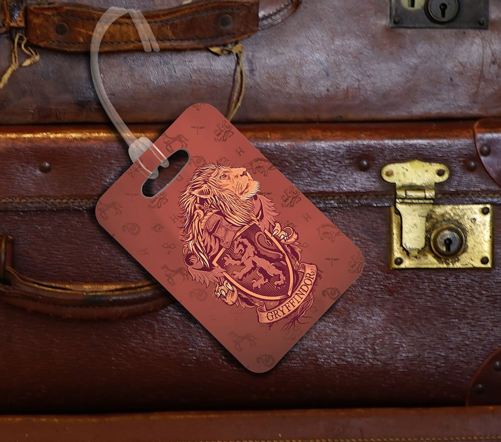 Amazon.com: Harry Potter Gryffindor) Llavero Luggage Tag ...