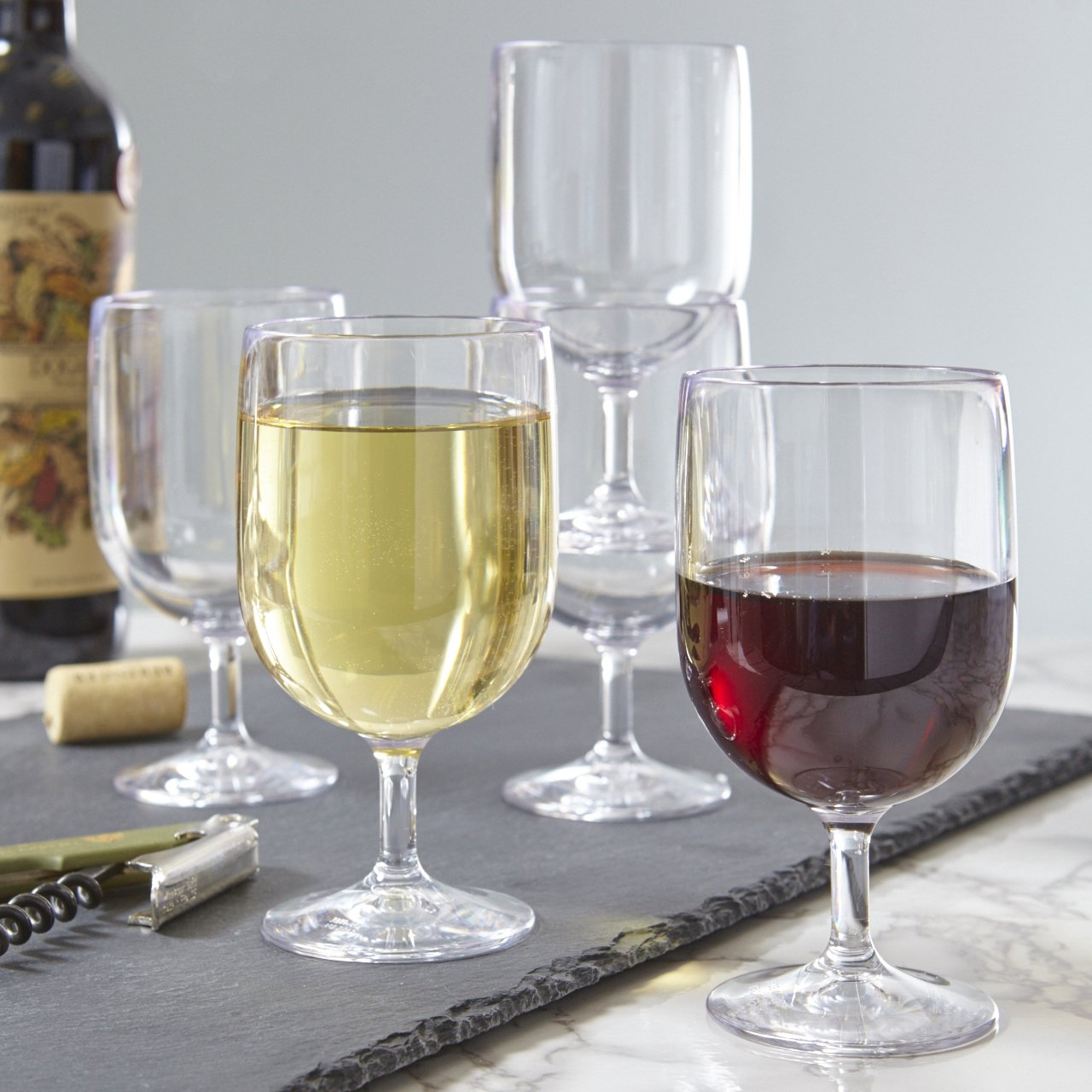 Stackable Premium Quality Plastic 8oz Wine Glass - Set of 8 by US Acrylic (Image #2)