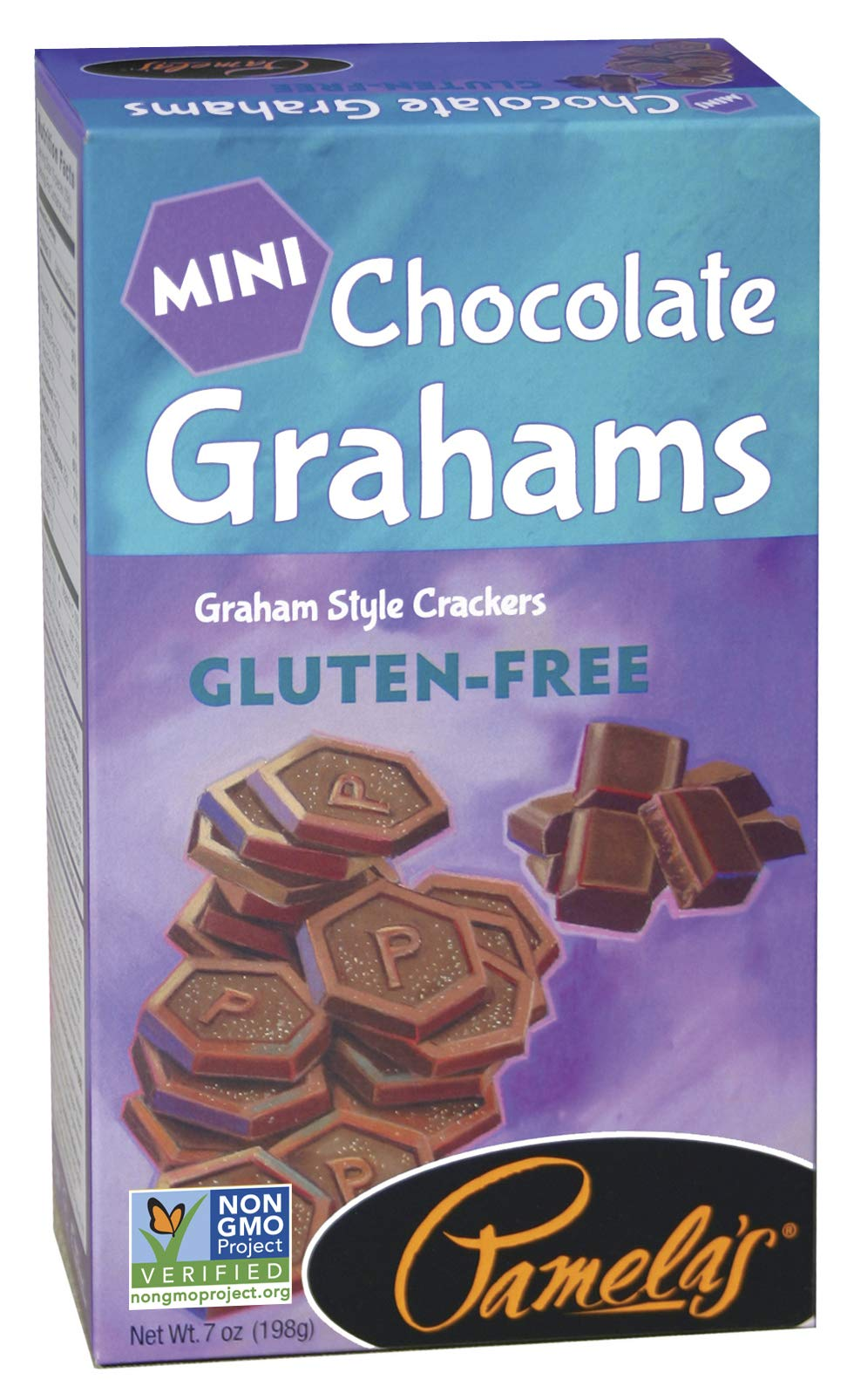 Pamela's Products Gluten Free Graham Crackers, Chocolate Minis , (Pack of 6) by Pamela's Products