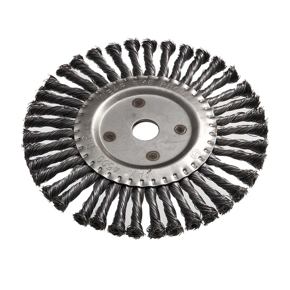 Msleep Cepillo Redondo Twist Wire Wheel 200 mm Cono Anudado Weed ...