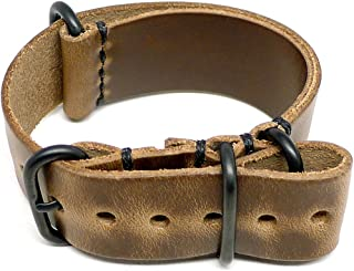 product image for DaLuca Military Watch Strap - Natural Chromexcel (PVD Buckle) : 26mm