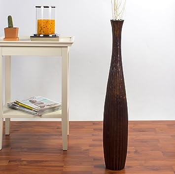 Leewadee Deko Bodenvase Holz 75cm Hoch Braun Amazon De Kuche