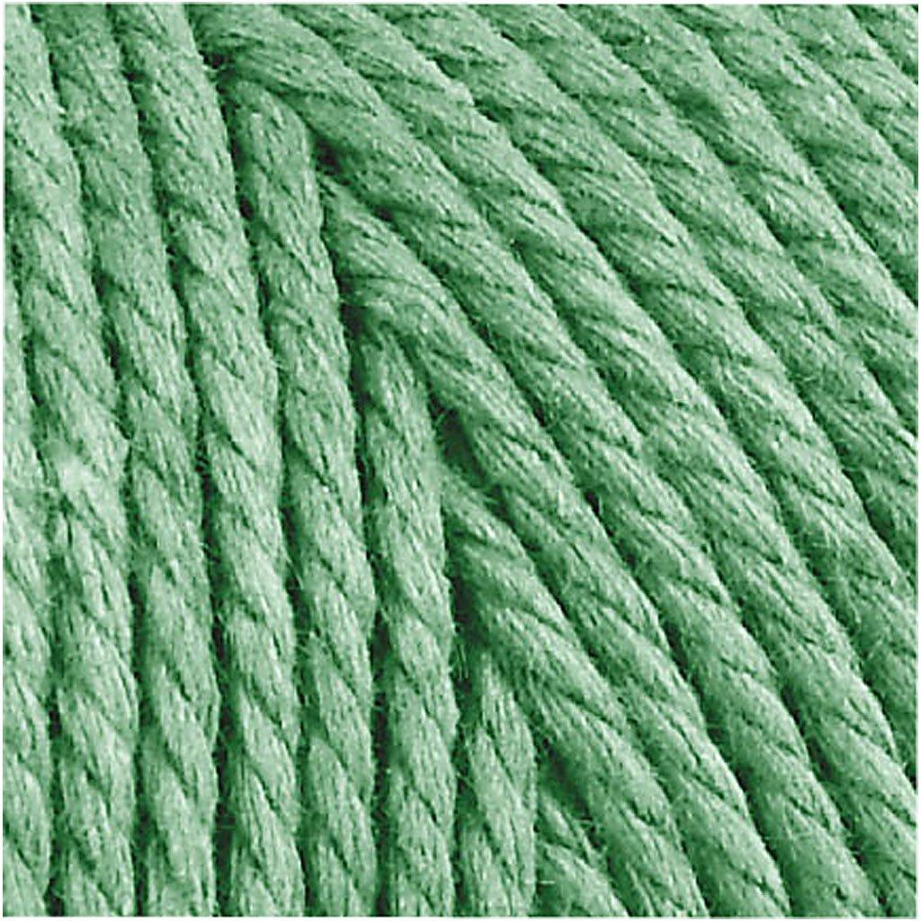 grosor 2 mm verde claro 250gr l Hilo de algod/ón 120 m Calidad gruesa 12//36