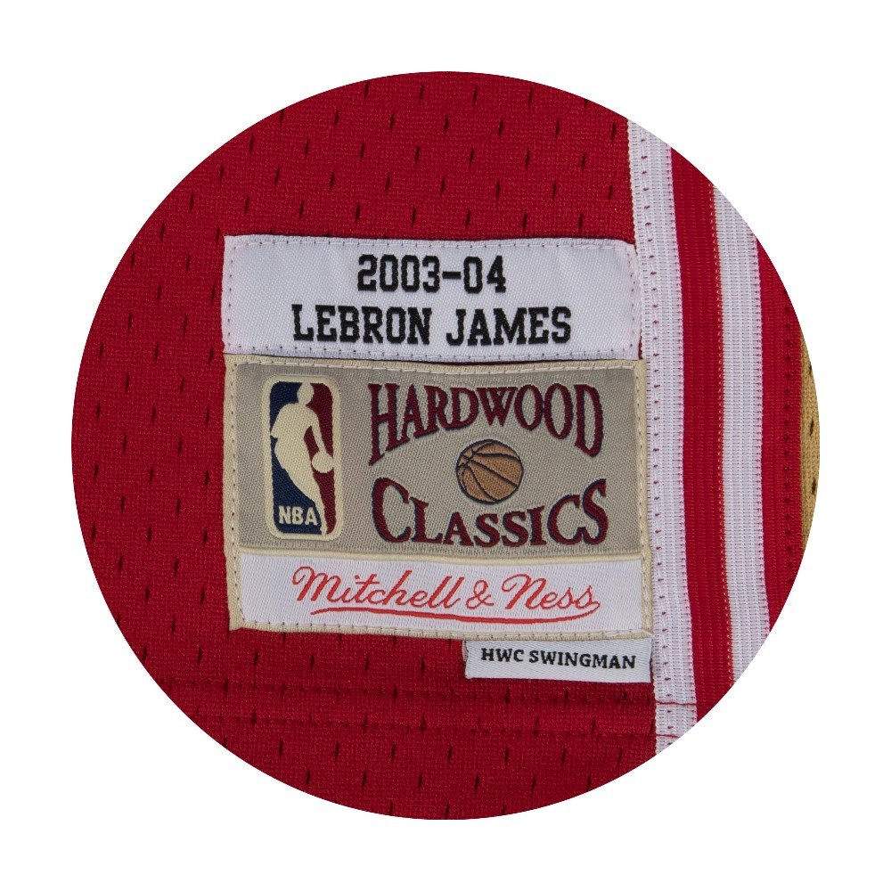 4f9284b235c Amazon.com   Lebron James Cleveland Cavaliers Mitchell and Ness Men s Red  Throwback Jesey   Sports   Outdoors