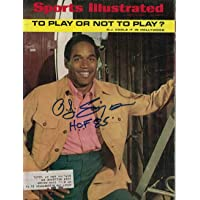 $217 » O.J. Simpson Autographed Buffalo Bills 1969 Sports Illustrated HOF 85 26186 - JSA Certified - Autographed NFL Magazines