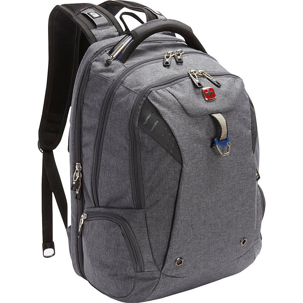 SwissGear Travel Gear TSA Approved 15 Inch Laptop Backpack 5902 - (Heather Grey/Navy) by Swiss Gear