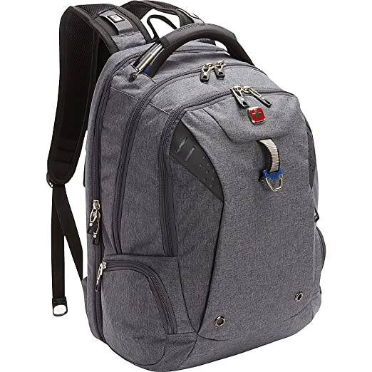 cc0901d4c1 SwissGear Travel Gear TSA Approved 15 quot  Laptop Backpack 5902 - (Heather  Grey Navy