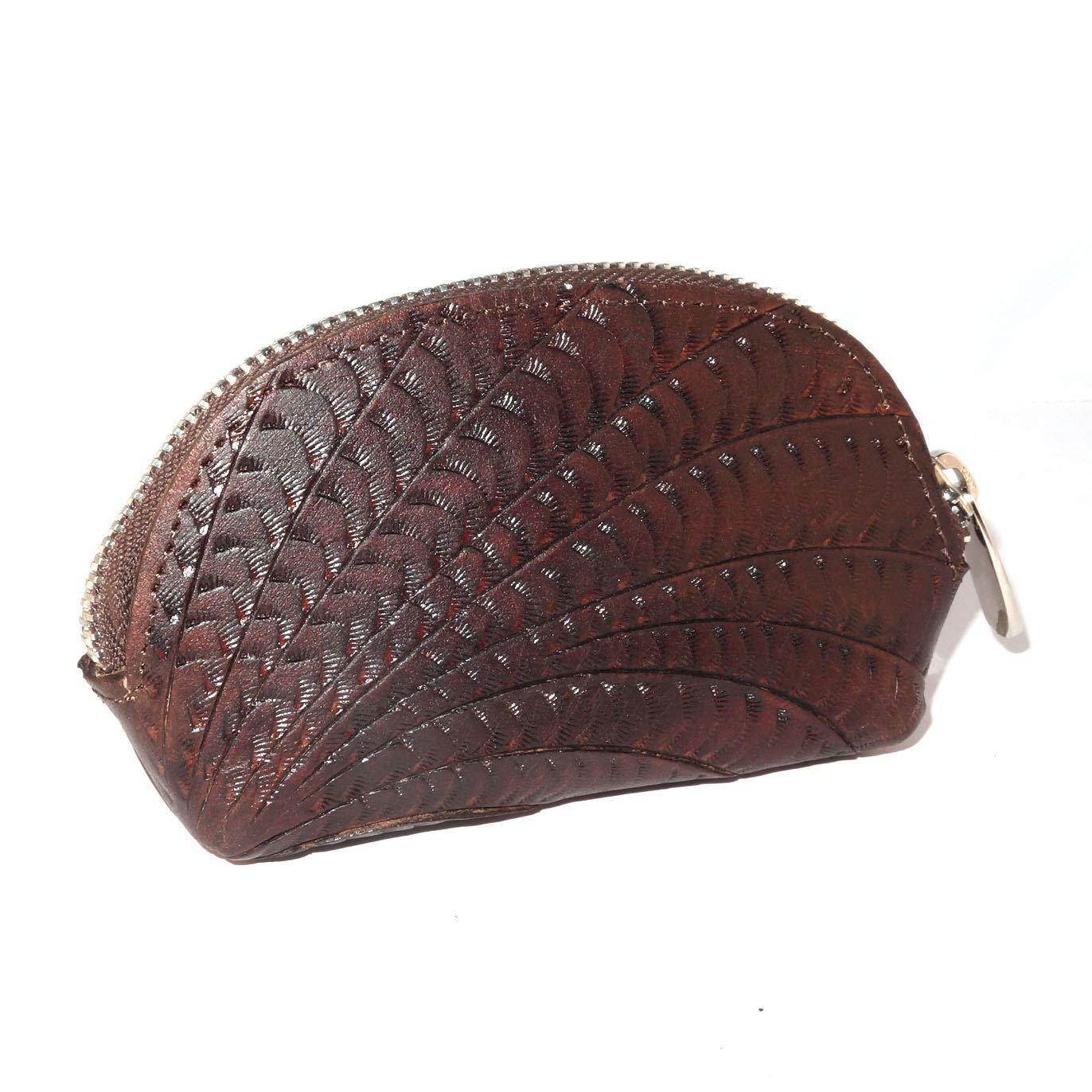 Hand Purse Dark Brown Handmade Genuine Leather Coin Purse Change Purse Change Purse Vintage Gift Pouch