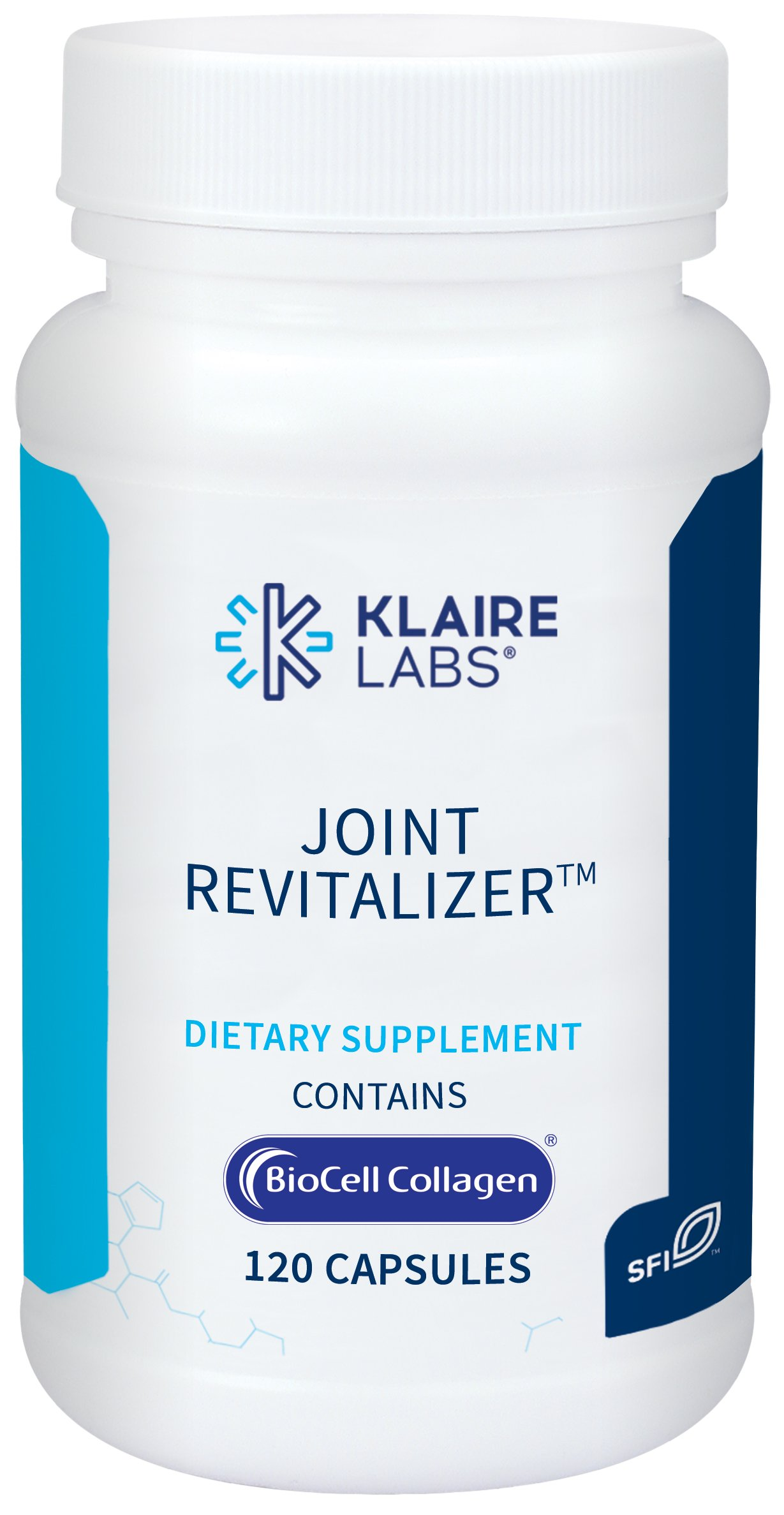 Klaire Labs Joint Revitalizer - Hydrolyzed Collagen Peptides, Chondroitin, MSM & Hyaluronic Acid (120 Capsules)