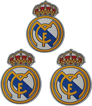 3 piezas Real Madrid Parches Coser / Planchar en Fútbol Club Emblema Accesorios de apliques deportivos Decoración Parches para jeans Chaqueta Ropa Bolso Zapatos Gorras: Amazon.es: Hogar