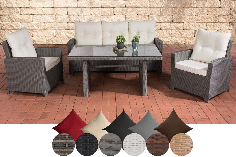 CLP Fisolo Set de muebles de jardín de ratán sintético ...