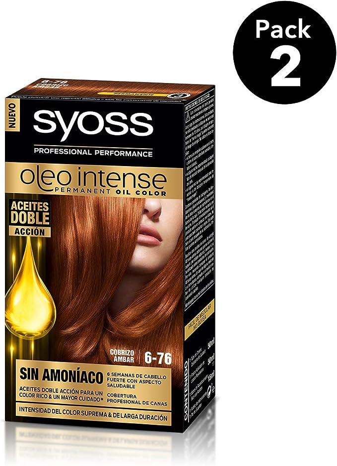 SYOSS - Oleo Intense Coloración Permanente Sin Amoníaco - Tono 6.76 Cobrizo Ámbar - 2 uds